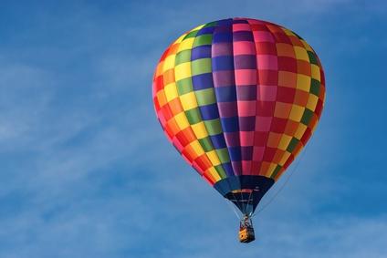 Heissluftballon in der Luft