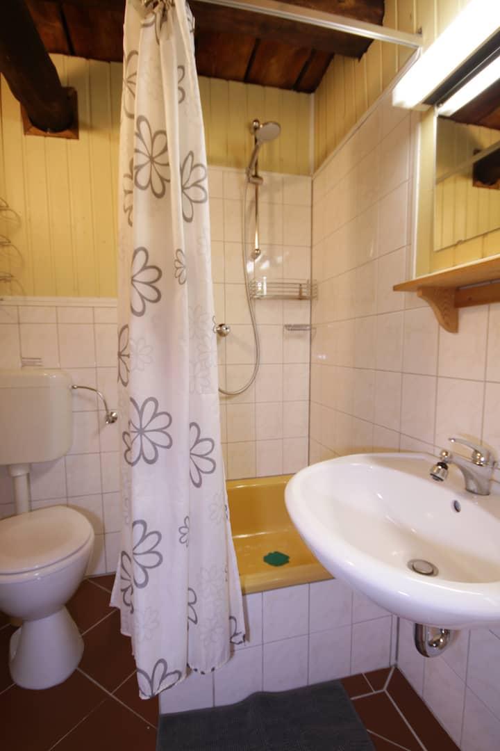 Bad mit Dusche, Apartment 40