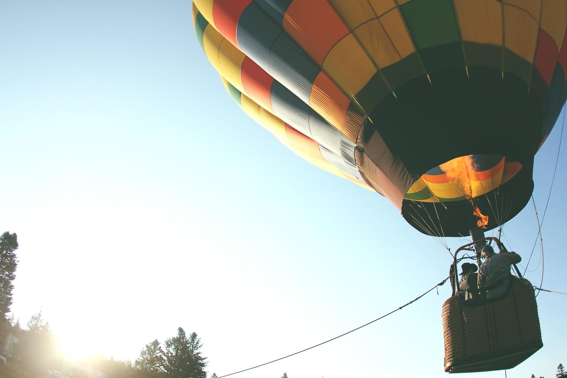 Startender Heissluftballon